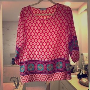 Silk bandana patterned blouse